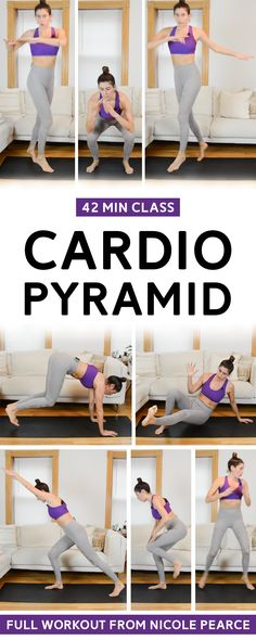 No equipment needed to get in a great cardio workout! Class is split in to two pyramids. You'll do five bodyweight cardio exercises, and the intervals get shorter as you go. #cardio #cardioworkout #bodyweightworkout Hiit Workout Videos, Workout Classes, Tabata Workouts, Body Workouts, Cardio, Best Body Weight Exercises, Easy At Home Workouts, Major Muscles, Total Body
