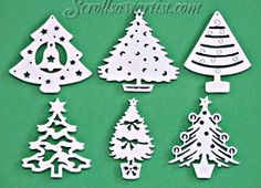 Scroll Saw Patterns :: Holidays :: Christmas :: Traditional ornaments :: Christmas tree ornaments #1 -