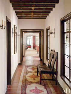 Marilyn Monroe Frequented Events Held at This Elegantly Restored Los Angeles Residence - Architectural Digest Spanish Colonial Homes, Spanish Style Homes, Spanish House, Spanish Revival, Spanish Kitchen, Residence Senior, Traditional Staircase, Arts And Crafts House, Arts And Crafts Interiors