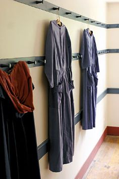 Dresses and Coats, Meetinghouse, Shaker Village, Pleasant Hill, Harrodsburg, Kentucky | Shaker Photographs - Shaker Workshops Photography Gallery - David Toczko