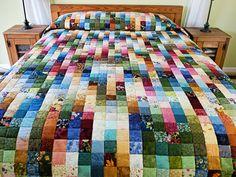 Mas Patches Quilt - excelente meticulosamente feito Amish Quilts de Lancaster (hs6962)