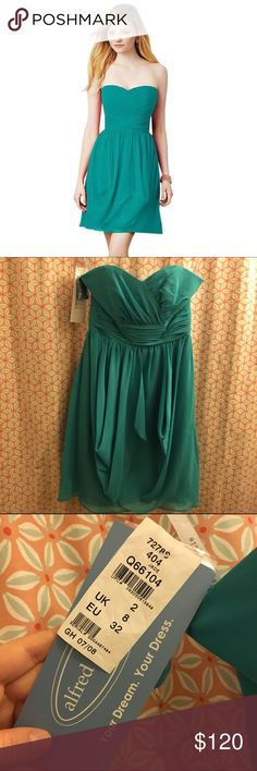 NWT Alfred Angelo 7278S Jade Bridesmaid Dress New with tags - never worn (wedding was canceled). Alfred Angelo designer bridesmaid dress. Style 7278S. Jade color. Alfred Angelo Dresses Mini