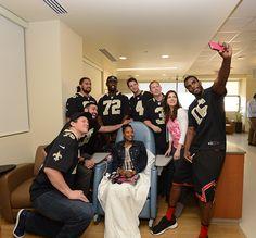 Saints selfie for Breast Cancer Awareness!