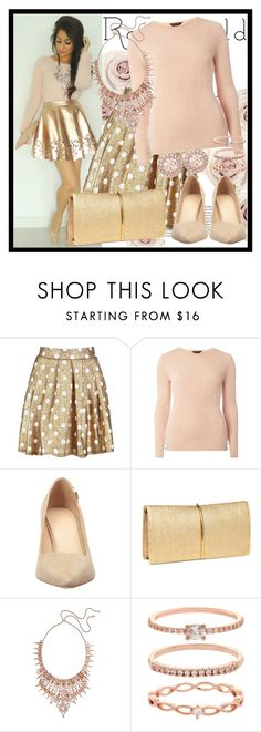 """372. So Pretty Rose Gold Jewelry"" by diana97-i ❤ liked on Polyvore featuring Boohoo, Dorothy Perkins, Tory Burch, Nina Ricci, Kendra Scott, Accessorize and Givenchy"