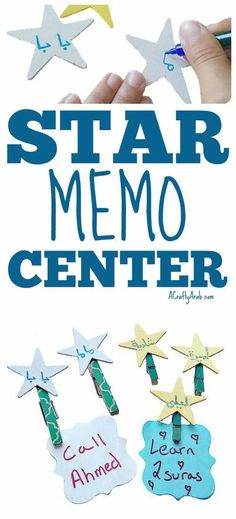 You can create these starry memo magnet holders for the fridge. In this day and age of texting and apps, you can still leave notes to each other the old fashioned way.