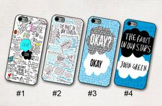 The Fault in Our Stars John Green Phone 5 / 5s / 5c by ZealJay, $6.80 I NEED THESE!!!