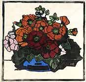 Margaret Preston was an Australian painter and printmaker who was a leading example of early Australian modernism. She drew on artistic and cultural influences from all over the world. Her subjects ranged from bold, colourful still life paintings and prints of native and introduced Australian flowers, to urban impressions of the Sydney Harbour Bridge and Sydney's Mosman area.