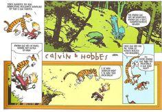 Calvin e Hobbes por Bill Watterson (via Vintage Comics - A Era de Ouro dos Quadrinhos)