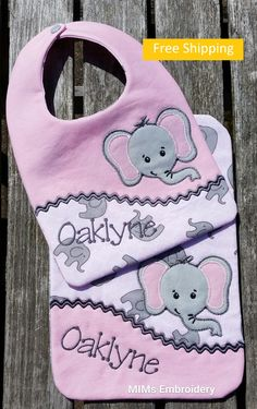Mims embroidery bib and burp cloth mims personalized embroidery bib burp cloth set personalized baby gift custom free shipping by mimscustomembroidery on etsy negle Images