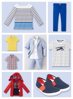 Cool spring clothes for boys at Jacadi. Those shoes are killing us!