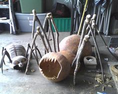 New spider gourd in progress. That's the first spider on the left.