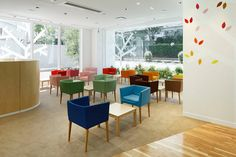 The waiting area - where no armchair is the same color. #SugamosShinkinBank