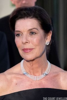The Evening Earring: Princess Grace's Wedding Gift Pearl Earrings   The Court Jeweller Princess Caroline Of Monaco, Wedding Gifts, Pearl Necklace, Royalty, Jewels, String Of Pearls, Jewelery, Gems, Jewerly