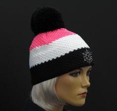 Dámská zimní čepice R Jet For You Beanie, Black And White, Crochet, Hats, Red, Fashion, Beanies, Knits, Moda