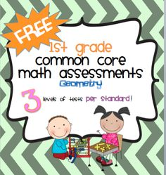 FREE 1st grade common core geometry