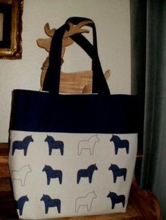 Tasche, Shopper, Einkaufstasche, Pferde, selbst genäht, Unikat