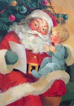 Christmas Santa Claus Vintage Cards for Xmas and Holidays, Vintage Santa Claus… Christmas Scenes, Noel Christmas, Victorian Christmas, Retro Christmas, Christmas Greetings, Father Christmas, Vintage Santa Claus, Vintage Santas, Santa Pictures