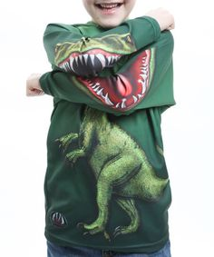 Take a look at this Raptor Hooded Tee - Toddler & Kids by What a Zoo: Kids' Apparel on #zulily today!