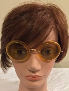 A personal favorite from my Etsy shop https://www.etsy.com/listing/259059224/vintage-orange-steampunk-safety-goggles