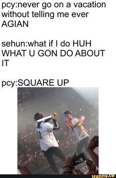 Haha classic Chanyeol and Sehun