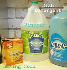 diy scrubbing cleanser, cleaning tips, The three ingredients needed to make your own scrubbing cleanser