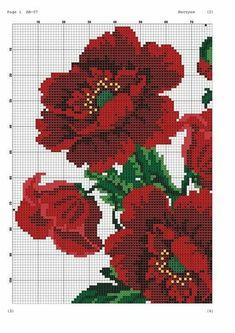 Cross Stitch Borders, Cross Stitch Rose, Modern Cross Stitch Patterns, Cross Stitch Flowers, Cross Stitch Charts, Cross Stitch Designs, Cross Stitching, Diy Embroidery, Cross Stitch Embroidery