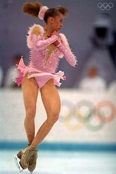 Oksana Baiul -Pink Figure Skating / Ice Skating dress inspiration for Sk8 Gr8 Designs.