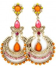 Orange Glamour Earrings ... I want the color