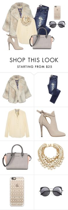 """""""Cropped Faux Fur Coats"""" by fashion-tagblog ❤ liked on Polyvore featuring A.W.A.K.E., STELLA McCARTNEY, Jimmy Choo, Kate Spade, Casetify, Wood Wood, women's clothing, women, female and woman"""