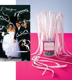 """For the big """"send off""""??  I could definitely do these..   1006-9099-ribbon-wands"""