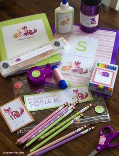 Etiquetas escolares personalizadas para imprimir gratis rosa