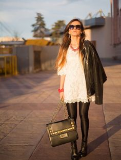 Featured in Look magazine. Look Magazine, Marie Claire, My Outfit, White Dress, Street Style, Chic, Celebrities, How To Wear, Outfits
