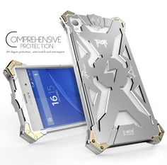New Original Design Cool Metal Aluminum Armor THOR IRONMAN protect phone cover shell case for Sony Xperia Z1 Z2 Z3 Z4