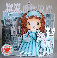 From our Design Team! Card by Anne-Maree Campbell featuring Club La-La Land Crafts July 2016 exclusive Renaissance Marci, Magical Day stamp set and these Dies - Castle Border, Bricks, Scroll Banner :-) Club La-La Land Crafts subscription details are here - http://lalalandcrafts.com/Club_La-La_Land_Crafts.html  Coloring details and more Design Team inspiration here -  http://lalalandcrafts.blogspot.ie/2016/07/club-la-la-land-crafts-july-2016-kit_27.html