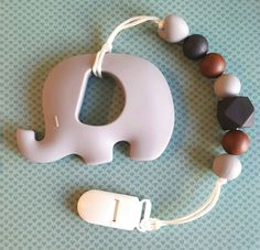 Hey, I found this really awesome Etsy listing at https://www.etsy.com/ca/listing/463615044/grey-baby-elephant-teether-with-clip-for