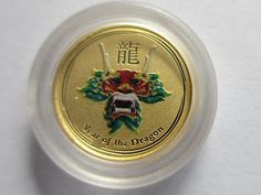 2012 1/20 oz Australian Gold Lunar Year of the Dragon Colorized Series II Coin        . On Sale Now-10% Off!