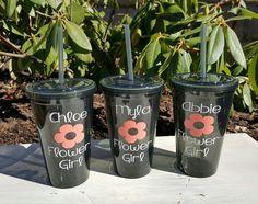 16 Ounce Ring Bearer ~ Flower Girl acrylic tumbler - Kelly Belly Boo-tique  - 1