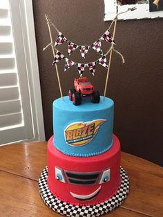 New Cars Cake For Men Monster Trucks Ideas Blaze Birthday Cake, Monster Truck Birthday Cake, 4th Birthday, Car Cakes For Men, Cakes For Boys, Bolo Blaze, Blaze And The Monster Machines Cake, Blaze Cakes, Truck Cakes
