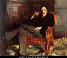 Robert Louis Stevenson - John Singer Sargent - www.johnsingersargent.org