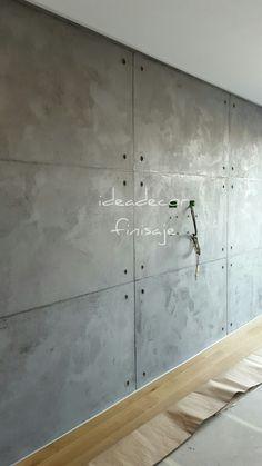 Oikos paint wall paint / t - Wandbehandlung Concrete Wall Panels, Cement Walls, Plaster Walls, Painting Concrete Walls, Loft Design, Wall Design, House Design, Garden Design, Concrete Interiors