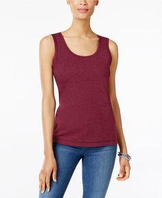 Karen Scott Cotton Tank Top, Created for Macy's - Tops - Women - Macy's