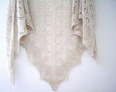 linen knit shawl, Knitted Shawl, Knit Shawl, Summer Shawl, Lightweight Wrap, linen scarf, knit shawl, Beige Shawl, lace Shawl, gift for her