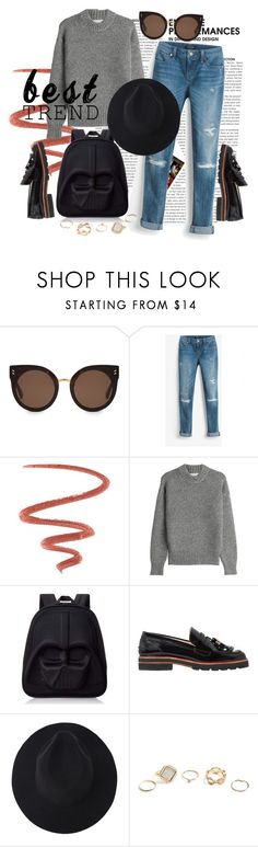 """Street Style #5"" by dobsdobs ❤ liked on Polyvore featuring STELLA McCARTNEY, White House Black Market, Too Faced Cosmetics, DKNY, Loungefly, Stuart Weitzman and GUESS"