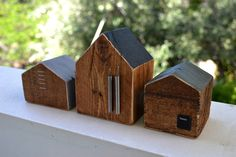 small house blocks / Reclaimed Art on Behance / construction art