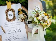 """LOVE the invitations pictured! """"Snow White and The Huntsmen"""" styled shoot {Photography by: The Wedding Birds}"""