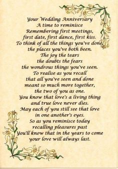 Wedding Quotes : QUOTATION – Image : Quotes Of the day – Description wedding anniversary verses Wedding Anniversary Poems, 50th Anniversary Cards, Anniversary Greetings, Anniversary Ideas, Golden Anniversary, Anniversary Decorations, Anniversary Sayings, Anniversary Parties, Wedding Aniversary
