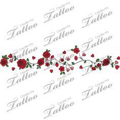 Marketplace Tattoo rose around the writst... #3347   CreateMyTattoo.com
