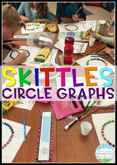 Skittles math!  Kids
