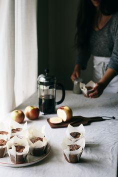 apple & honey muffins