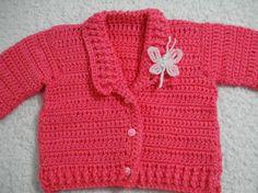 Saco tejido al crochet niña